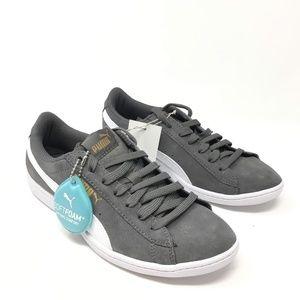 PUMA Women's Vikky Suede Grey Sneaker